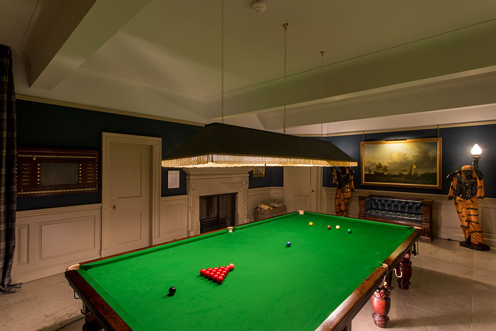 The Billiard Room at Marchmont House, Greenlaw, Berwickshire